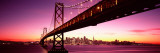 Bridge across Bay with City Skyline in Back  Bay Bridge  San Francisco Bay  California