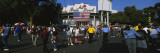Group of People in Front of a Stadium  the Rose Bowl  Pasadena  City of Los Angeles  California