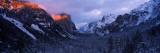 Sunlight Falling on a Mountain Range  Yosemite National Park  California  USA