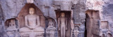 Buddha Sculptures on a Wall  Gwalior Fort  Gwalior  Madhya Pradesh  India