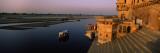 Temple at the Waterfront  Yamuna River  Vrindavan  Mathura District  Uttar Pradesh  India
