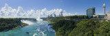 Waterfall in River with New York Skyline in Background  Niagara Falls  Ontario  Canada