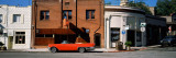 Car Parked in Front of Buildings  Historic District  Auburn  Placer County  California  USA