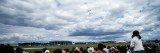 Spectators Watching an Air Show  Red Arrows  Farnborough  England