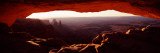 Natural Arch at Sunrise  Mesa Arch  Canyonlands National Park  Utah  USA