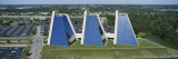 High Angle View of Three Buildings in a Row  the Pyramids  Indianapolis  Indiana  USA