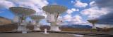 View of Radio Telescopes  Californian Sierra Nevada  California  USA