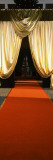 Red Carpet and Golden Curtains in Concert Hall  Freiburg Concert Hall  Baden-Wurttemberg  Germany