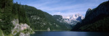 Alpine Lake Surrounded by Mountains  Dachstein Mountains  Upper Austria  Austria