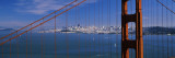 Suspension Bridge with a City in the Background  Golden Gate Bridge  San Francisco  California  USA