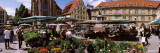 Group of People in a Street Market  Schillerplatz  Stuttgart  Baden-Wurttemberg  Germany