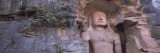 Buddha Sculpture Carved on a Wall  Gwalior Fort  Gwalior  Madhya Pradesh  India