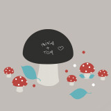 Mushrooms (Water Resistant Decal)