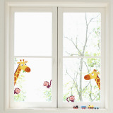 Giraffes and monkeys (Window Decal)