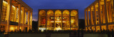 Entertainment Building Lit Up at Night  Lincoln Center  Manhattan  New York City