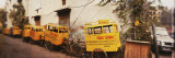 Public School Rickshaws Parked in Front of a Building  Old Delhi  Delhi  India