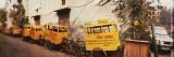 Public School Rickshaws Parked in Front of a Building  Old Delhi  Delhi  India