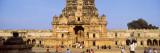 Tourists in Front of a Temple  Brihadeeswarar Temple  Thanjavur  Tamil Nadu  India