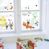 Animals and Tales Window Decal Sticker