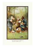 Teddy Roosevelt's Bears: Teddy B and Teddy G at a Picnic