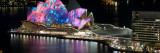 Opera House Lit Up at Night  Sydney Opera House  Sydney  New South Wales  Australia