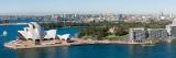 View of City  Sydney Opera House  Circular Quay  Sydney Harbor  Sydney  New South Wales  Australia