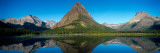 Reflection of Mountains in Lake  Swiftcurrent Lake  Many Glacier  Us Glacier National Park  Montana