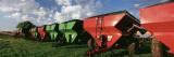 Farm Equipment in a Field  York  York County  Nebraska  USA