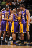Los Angeles Lakers v San Antonio Spurs  San Antonio  TX - March 6: Kobe Bryant  Ron Artest and Pau 