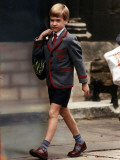 Prince William on his way to school