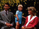 Prince William with his parents on his 2nd birthday  June 1984