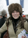 Prince William's girlfriend Kate Middleton seen here arriving at the Cheltenham Festival on Gold Cu