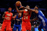 2011 NBA All Star Game  Los Angeles  CA - February 20: Kobe Bryant  LeBron James  Derrick Rose and