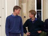 Prince William and Prince Harry at Highgrove discussing Prince William's driving lesson in Ford Foc
