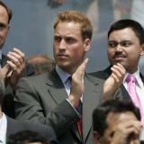 HRH Prince William enjoys the World Cup 2006 in Frankfurt  Germany  June 2006