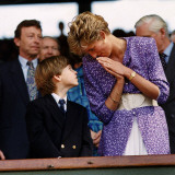 Princess Diana and Prince William at the Wimbledon Ladies Final  1991