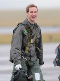 Prince William takes his first solo flight  lesson at RAF Cranwell in Lincolnshire