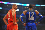 2011 NBA All Star Game  Los Angeles  CA - February 20: Tim Duncan and Dwight Howard