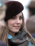 Kate Middleton in the Royal box at Cheltenham racecourse