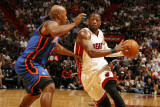 New York Knicks v Miami Heat  Miami - February 27: Dwyane Wade and Chauncey Billups