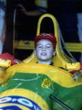 Prince William in F1 Benetton car at British Grand Prix   July 1992