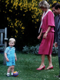 Prince William with parents on his 2nd birthday  June 1984
