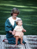 Princess of Wales with William in New Zealand  April 1983