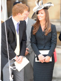 prince harry & kate middleton all smiles as they see prince william in his garter robes  June 2008