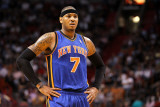 New York Knicks v Miami Heat  Miami  FL - February 27: Carmelo Anthony