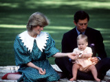 Prince and Princess of Wales with William in New Zealand  April 1983