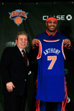 New York Knicks Introduce Carmelo Anthony  New York  NY - February 23: Carmelo Anthony and Jim Dola