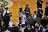 Los Angeles Lakers v Boston Celtics  Boston  MA - February 10: Reggie Miller and Ray Allen
