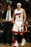 Orlando Magic v Miami Heat  Miami  FL - March 3: Erik Spoelstra and Mike Bibby