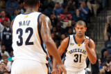 New Orleans Hornets v Memphis Grizzlies  Memphis  Tn - March 4: Shane Battier and OJ Mayo